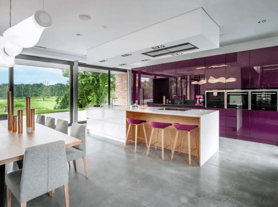paars witte keuken